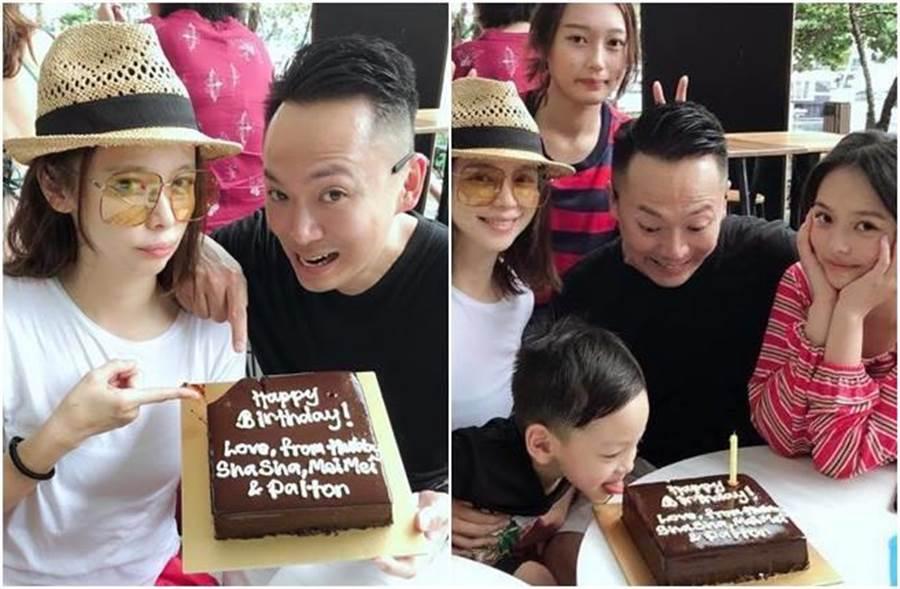 徐若瑄和家人提前慶生。(圖/翻攝自臉書)