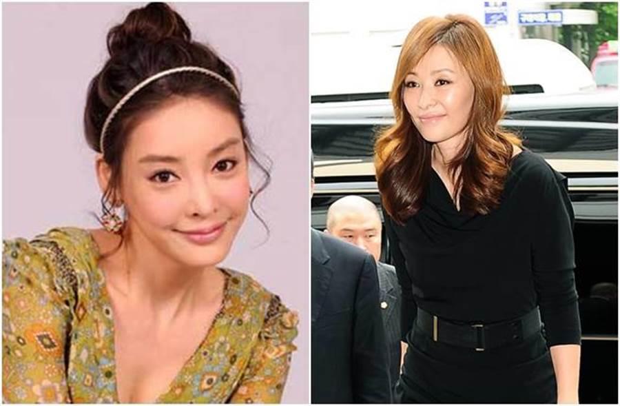 韓國影后李美淑(右)被韓媒爆是張紫妍(左)自殺幕後推手。(圖/翻攝自韓網)