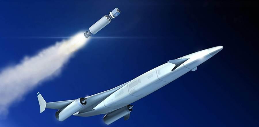 假如軍刀吸氣火箭引擎完成,太空飛機將不是夢。(圖/ESA)