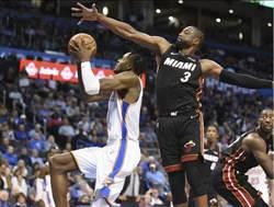NBA》韋斯布魯克被禁賽 韋德率熱火輕取雷霆
