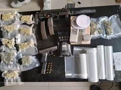 北市警制伏槍彈上膛毒販 查獲大麻、長短槍
