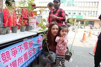 捐發票贈樹苗 下營公所植樹月邀民眾助公益