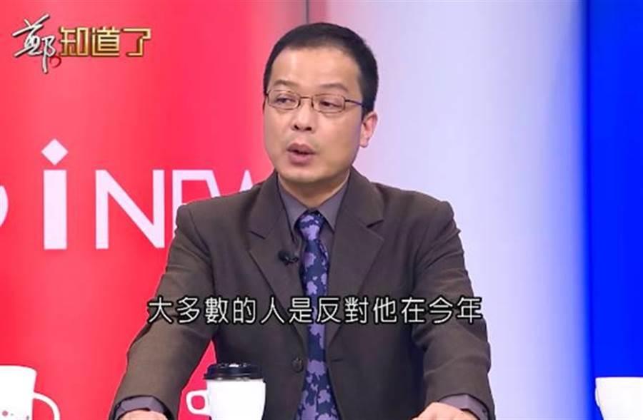 锺年晃曝绿营新系大老都反对赖清德选总统。(图/翻摄脸书)