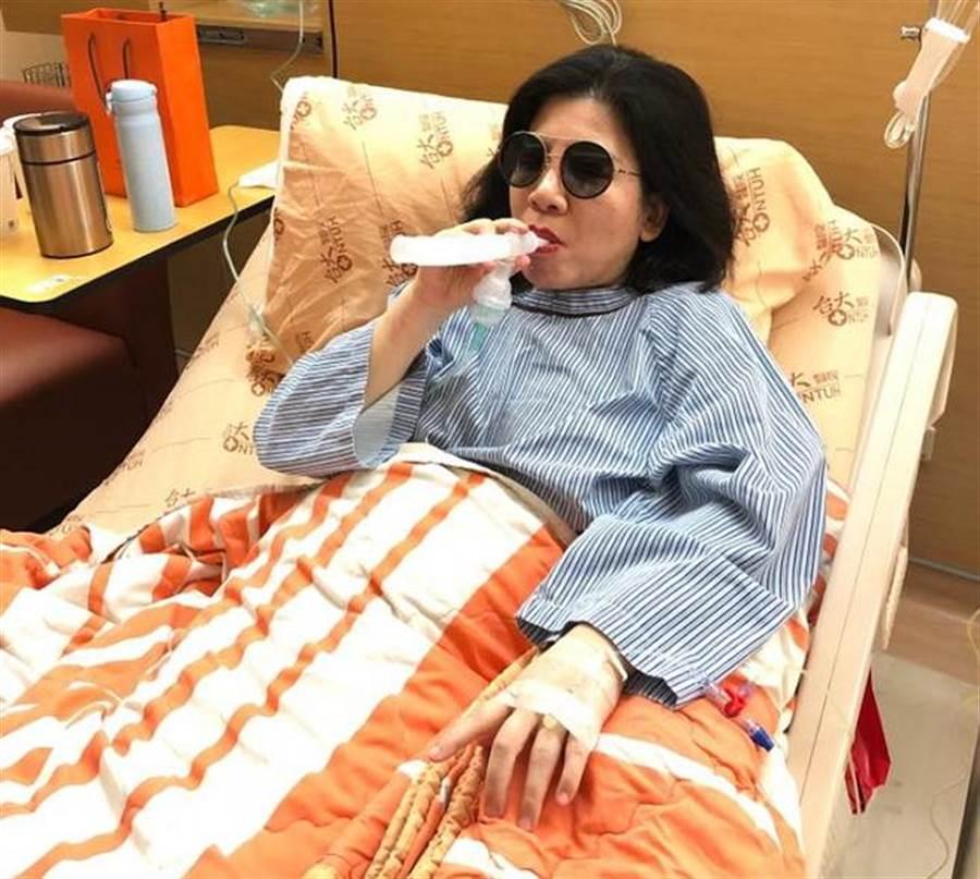 陳文茜罹肺腺癌住院。(圖/翻攝自文茜的世界周報 Sisy's World News臉書)