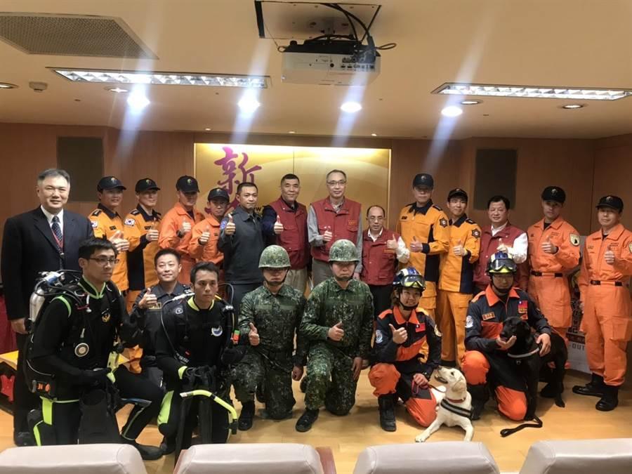 新北市消防局將於3月21日辦理「民安5號」全民防衛動員暨災害防救演習,今由新北市副市長謝政達主持活動記者會。(譚宇哲翻攝)