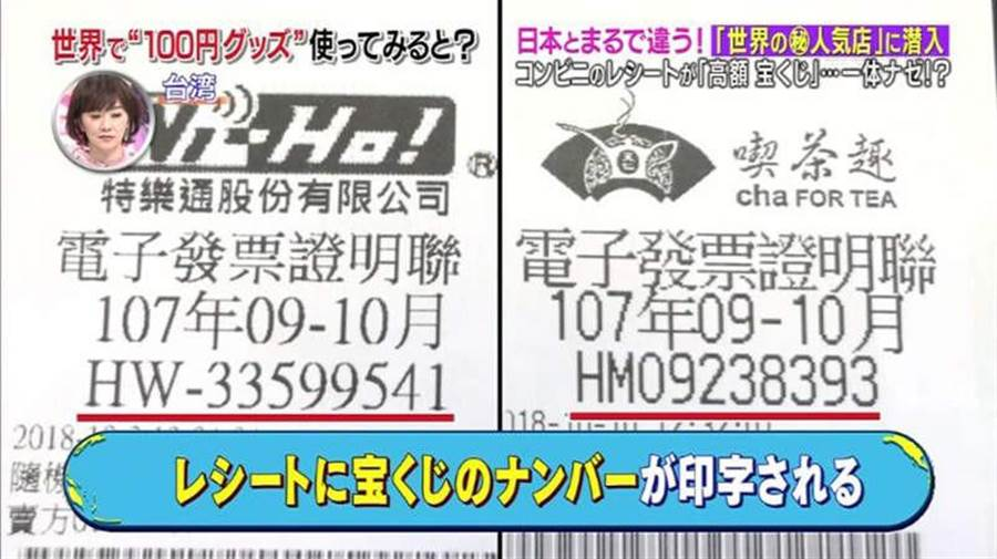 台灣的發票機制,讓日本人驚呼不已(圖翻攝自/電視截圖)