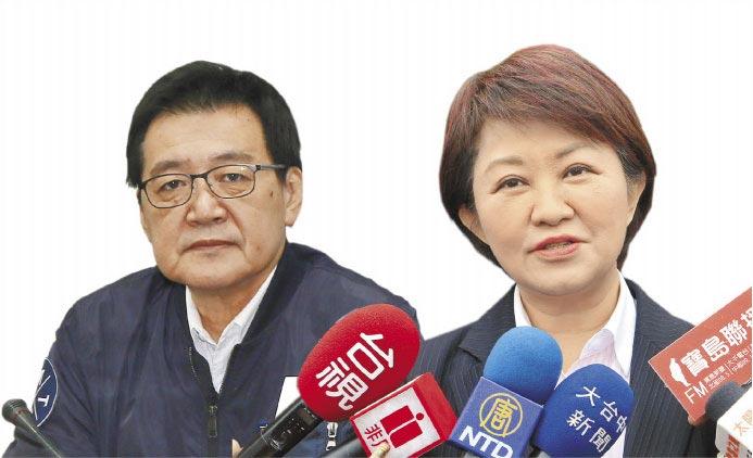 國民黨立委費鴻泰(左,劉宗龍攝)、台中市長盧秀燕(右,盧金足攝)。