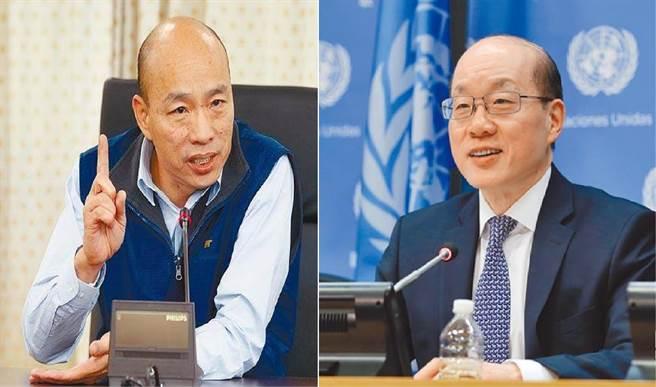 台灣高雄市長韓國瑜(左)、大陸國台辦主任劉結一(右)。(圖/合成圖,本報資料照)