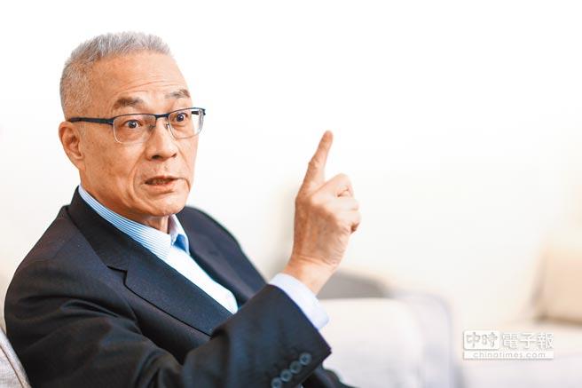 國民黨主席吳敦義19日接受本報專訪,針對2020總統大選提出看法。(鄧博仁攝)