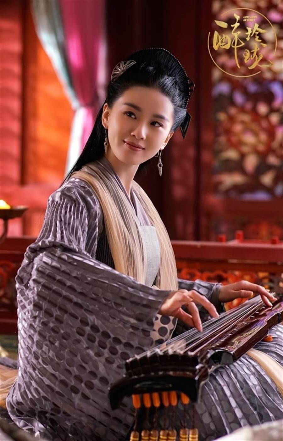 劉詩詩懷孕前唯一接演的古裝劇《醉玲瓏》,她在劇中飾演巫族聖巫女。(圖/中天提供)