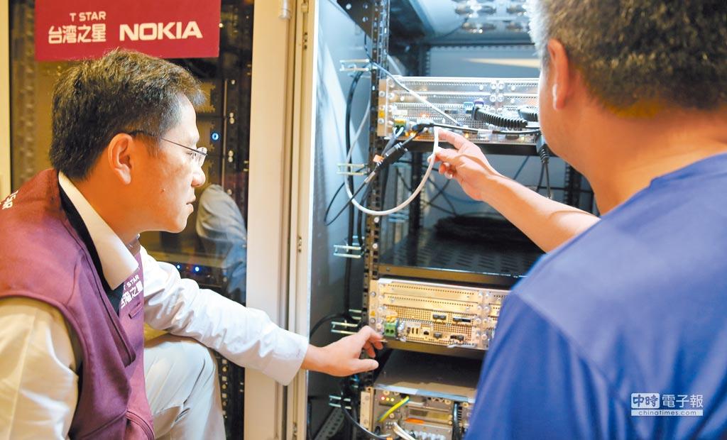 台灣之星於5G實驗室構建具大頻寬、高速率與低延遲通訊特點的5G網路環境。(台灣之星提供)