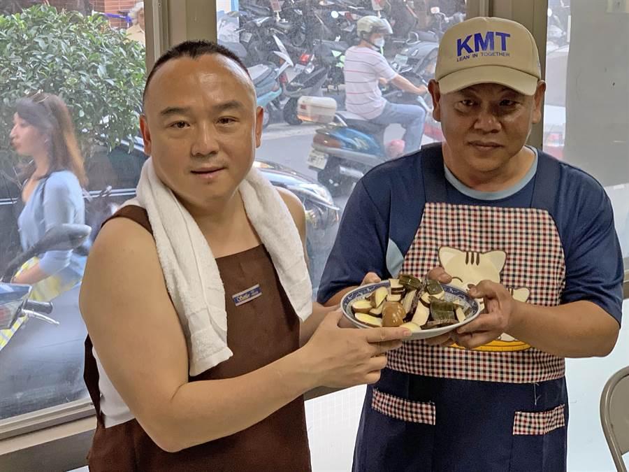 高市觀光局長潘恒旭(左)今(21)日反駁高雄光頭日為「造神」。(柯宗緯攝)