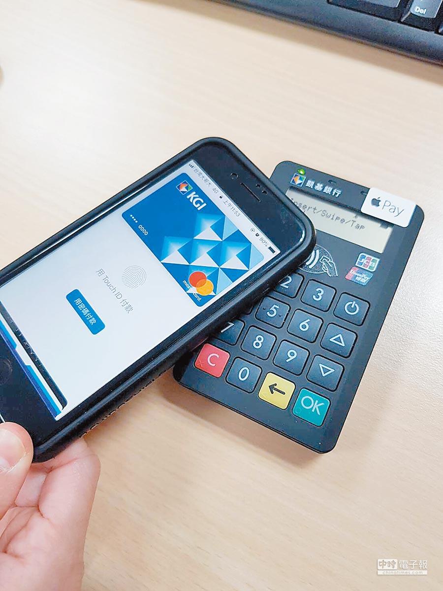 Apple Pay綁定凱基卡送咖啡,刷高鐵再送折抵金。圖/蔡淑芬