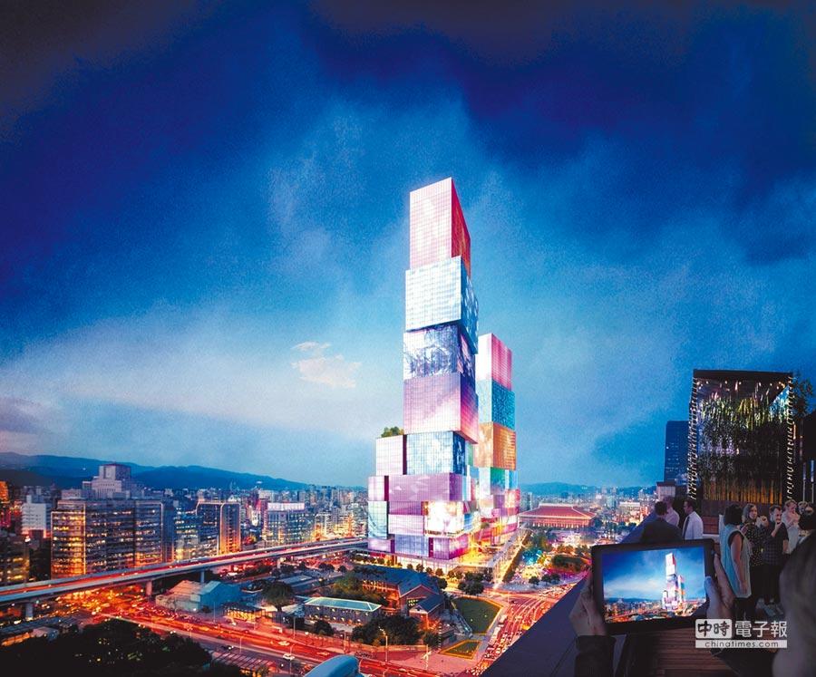 台北CITY ONE合成示意圖。(取自台北CITY ONE官網)