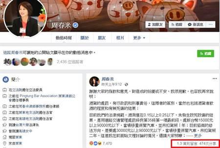 第2個邱議瑩 綠委周春米談酒駕臉書被灌爆