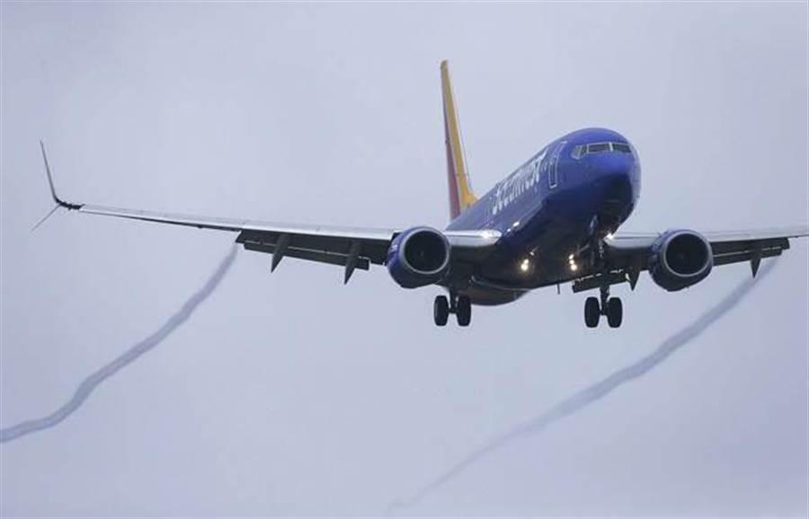 图为西南航空的波音737 MAX 8客机。(美联社)
