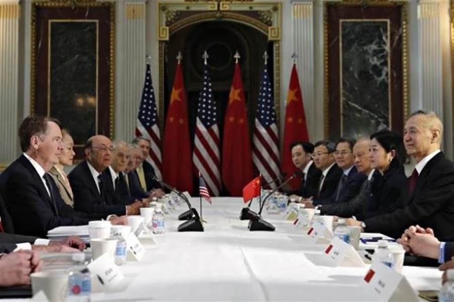 陸美雙方代表下星期將展開新1輪貿易協商。圖為先前談判情形。(美聯社資料照片)