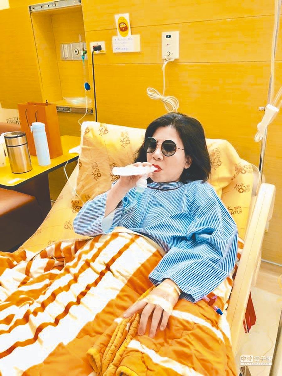 陳文茜右肺再發現0.6公分腫瘤。(取材自臉書)
