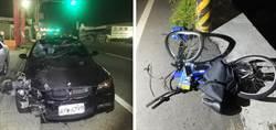 18歲男騎單車過馬路 迎頭撞上BMW跑車拋飛身亡