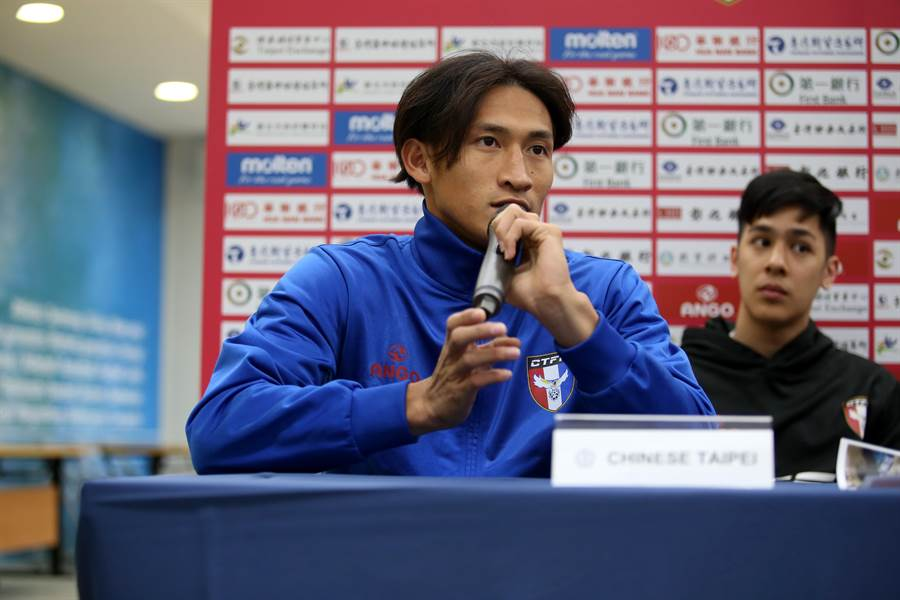 中華隊前鋒李茂承諾要讓主場球迷看到更多進球。(李弘斌攝)