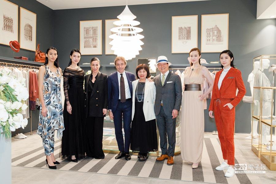 義大利精品服飾於文華東方酒店的文華精品開幕,成為貴婦日常時裝新寵。圖/世新國際提供