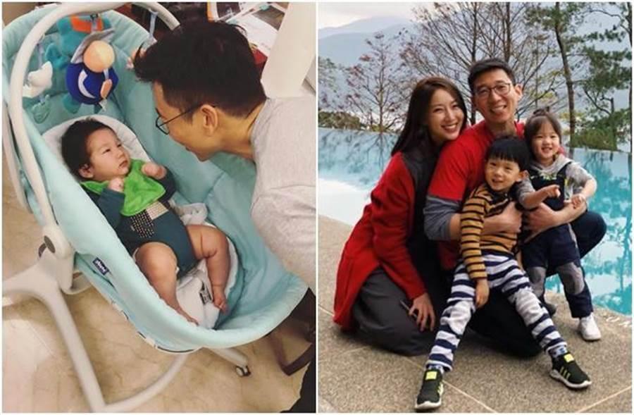 隋棠婚後育有3個寶貝兒女。(圖/翻攝自臉書)