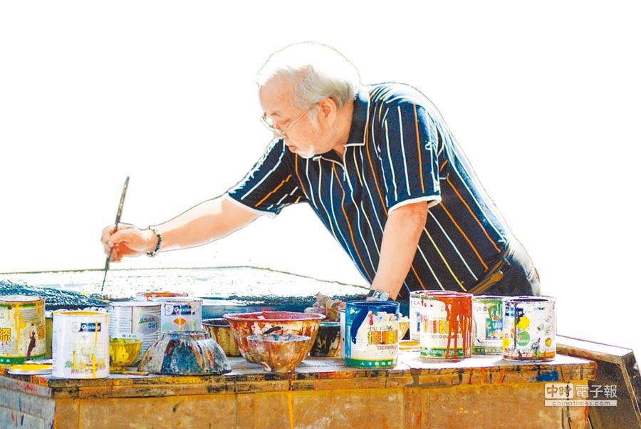 李錫奇創作形式包含版畫、水墨、抽象書法、漆畫、複合媒材及裝置。(本報資料照片)