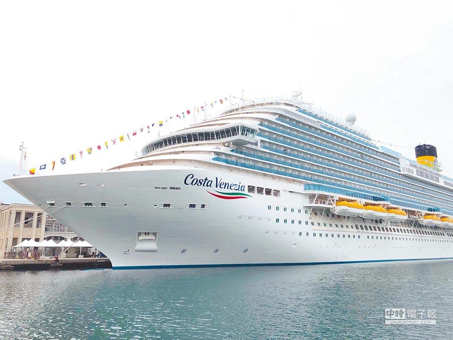 本月已從義大利啟程、現正航向亞洲的全新旗艦級郵輪「威尼斯號」,5月9日將推出今年在台的唯一旅程。(雄獅旅遊提供)