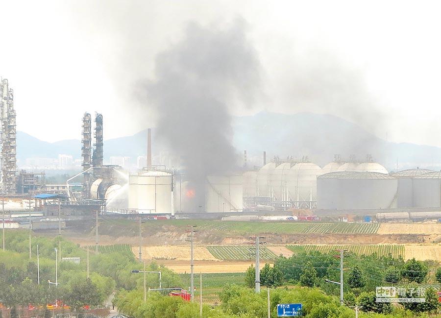 2017年6月5日,山东临沂一化工企业发生爆炸事故造成8人死亡 。(新华社)