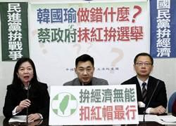 影》韓出訪拚經濟遭綠猛轟 藍委記者會力挺韓國瑜