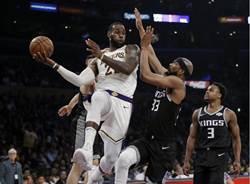 NBA》詹姆斯大三元 湖人拿國王祭旗中止3連敗