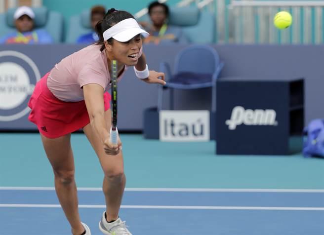 謝淑薇在羅馬大師賽女單第一輪不幸落敗。(資料照/美聯社)
