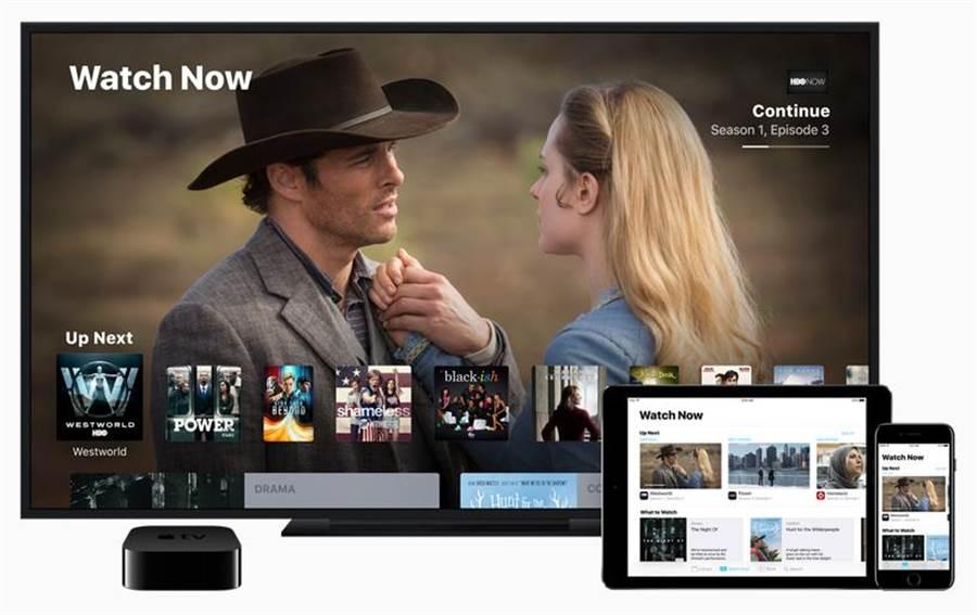 蘋果之前推出 Apple TV App 的示意圖。(圖/翻攝蘋果官網)
