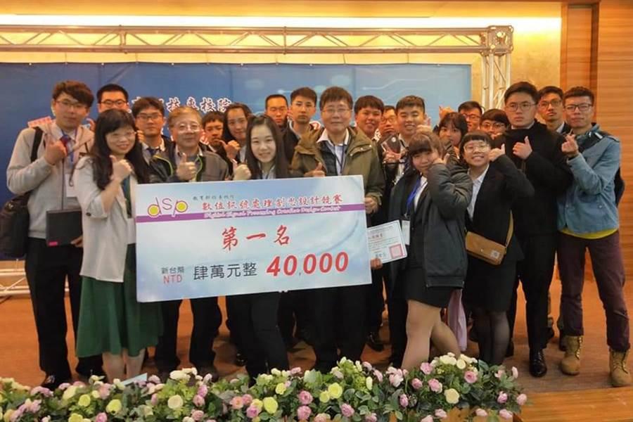 修平科大學生參加「2019年數位訊號創思設計競賽」,奪下2金、2佳作,堪稱最大贏家。(林欣儀翻攝)