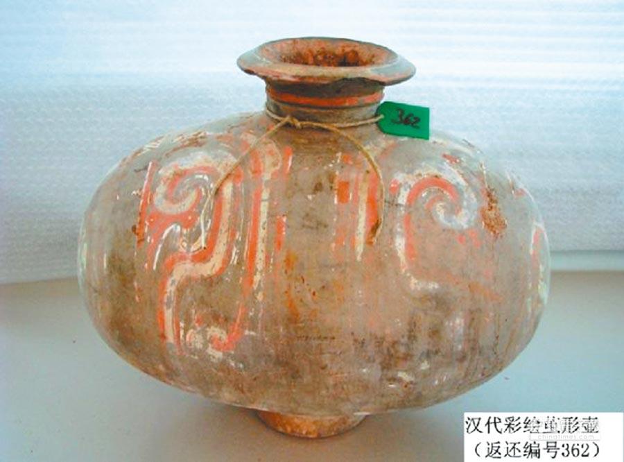 漢代彩繪繭形壺。(取自新華網)