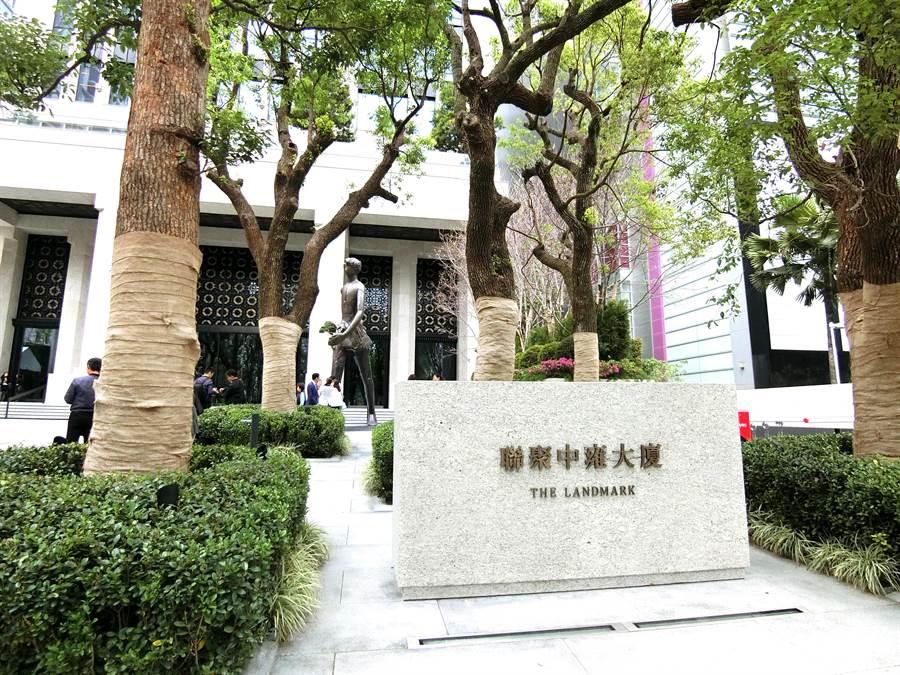 台中七期商辦大樓「聯聚中雍大廈」,站上中台灣最高的豪辦行情。(盧金足攝)