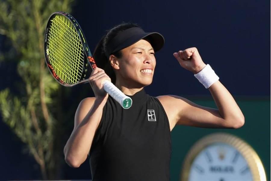 謝淑薇擊敗另一位球后級好手,闖進邁阿密公開賽女單八強。(美聯社)