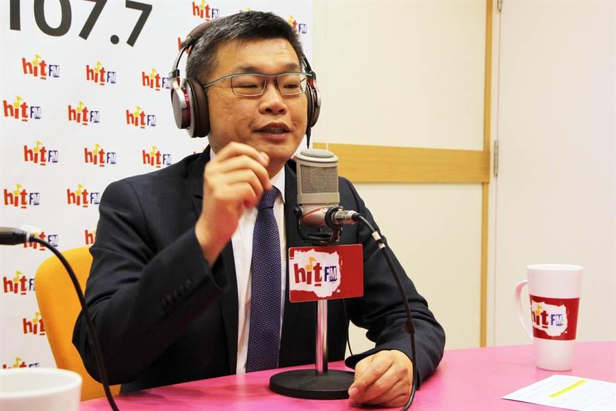 立法院副院長蔡其昌說,韓國瑜消滅中華民國,引起藍綠共同憤怒。(Hit Fm《周玉蔻嗆新聞》製作單位提供)