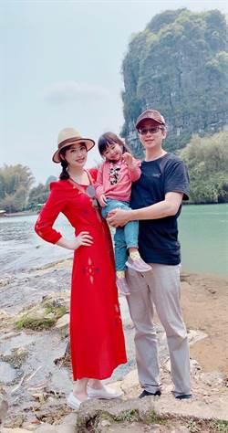陳海茵夫婦與愛女羊羊在陽朔享受最親密的親子慢遊