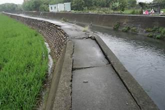 南屯灌溉溝渠堤防掏空 水利局將儘速改善