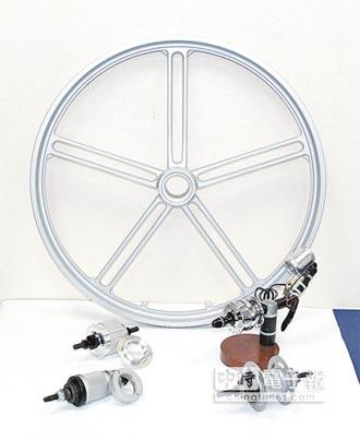 崑藤 內變速3速花鼓 鎂鋁合金一體輪圈 獲專利肯定