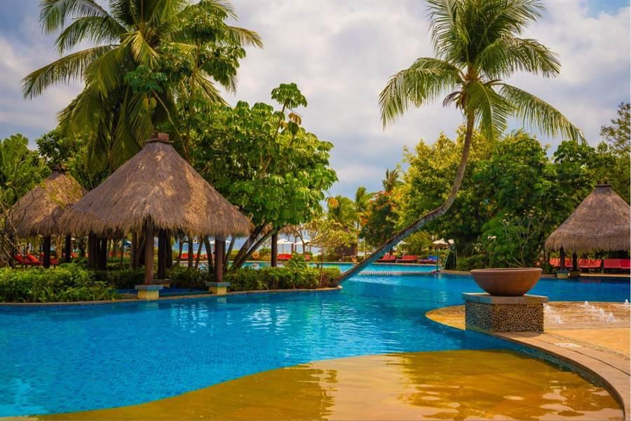 三亞Club Med渡假村擁有「小夏威夷」之稱。(攝影/沈弘欽)