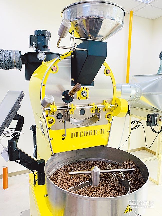 UCC雲林工廠DIEDRICH烘豆設備,半熱風式烘焙,以生產單品豆為主。(吳奕萱攝)