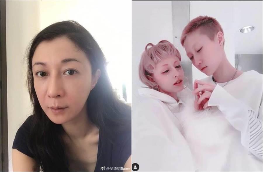 吳綺莉和女兒吳卓林的母女關係,屢屢登上新聞版面。(圖/取材自吳綺莉微博(左圖)、Andi Instagram)