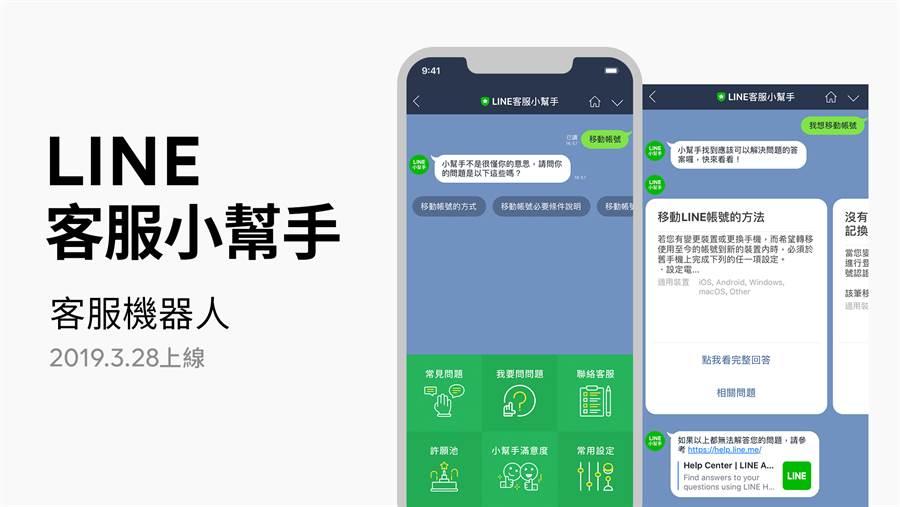 LINE客服小幫手是 LINE 今年在要台推出的新服務之一,今日在台上線。(圖/翻攝LINE Blog)