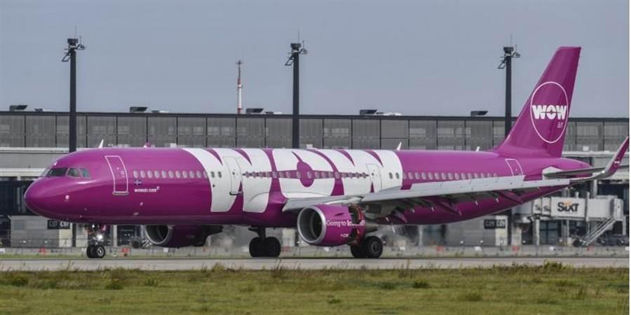 冰島的廉價航空Wow,因為負債累累無力攤還,今天突然宣布停止營運,大批旅客滯留歐美怨聲載道。(美聯社)