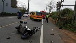 桃園娃娃車與機車汽車三撞 1人當場死亡
