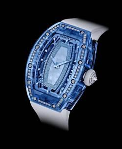 Richard Mille的藍寶石水晶可鑲鑽 身價更不凡