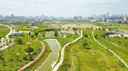 水湳中央公園 完工區開放體驗
