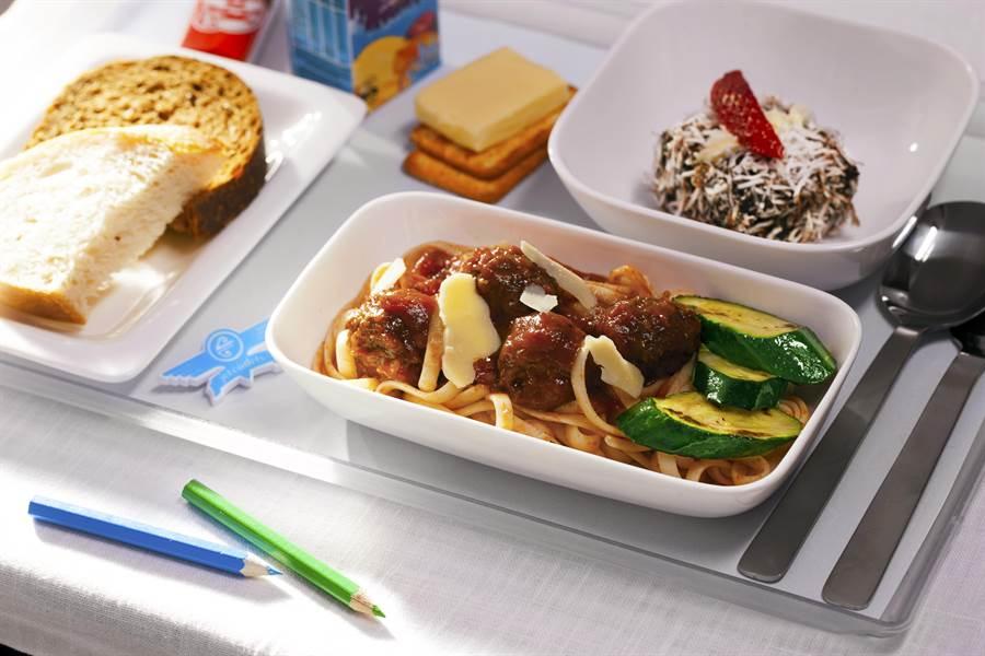 紐西蘭航空機上兒童餐。圖:業者提供